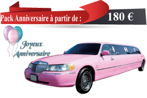 anniversaire en limousine paris location de limousine. Black Bedroom Furniture Sets. Home Design Ideas